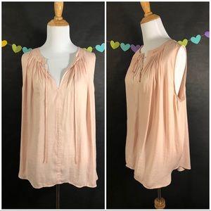 Blush Colored Sleeveless Blouse, Size M